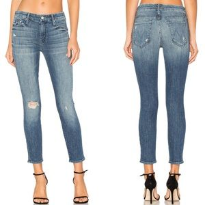 Mother The Looker Crop Distressed Jeans In Gypsy